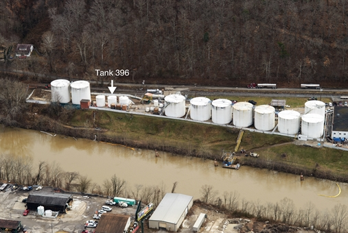 Contaminated Water from Chemical Spill